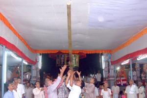 ಕಾರ್ಕಡದಿಂದ ಬಂದ ಮೆರವಣಿಗೆ ಶ್ರೀದೇವಳದ ರಾಜಾಂಗಣ ಪ್ರವೇಶ